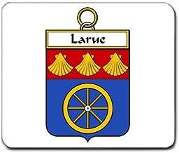 Larue de la Rue Family Crest Coat of Arms Mouse Pad