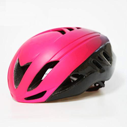 Outdoor Mountainbike Rennrad-Reithelm - High Density EPS-Schaumstoff-Schutzhelm - Druck- und Anti-Fall-Herren und Damen Explosive Lightweight Helm - Schwarz/Rot/Pink/Weiß-6