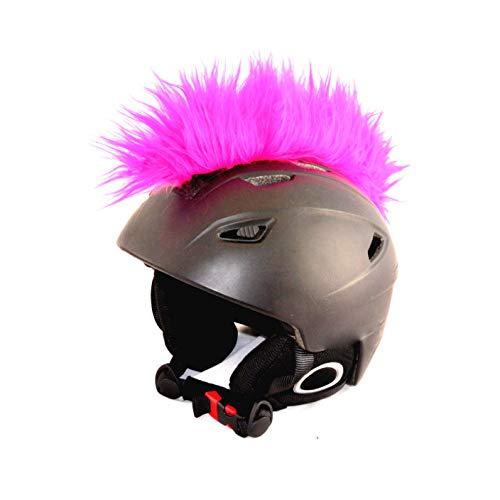 Helm-Irokese für den Skihelm, Snowboardhelm, Kinderskihelm, Kinderhelm, Motorradhelm oder Fahrradhelm - - Der HINGUCKER - Der etwas auffälligere Helm-Aufkleber - für Kinder und Erwachsene (Pink)