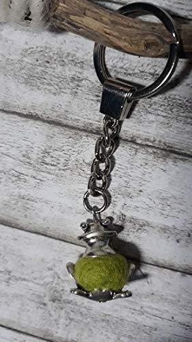 Froschanhänger Frosch mit Filzkugel Schlüsselbund