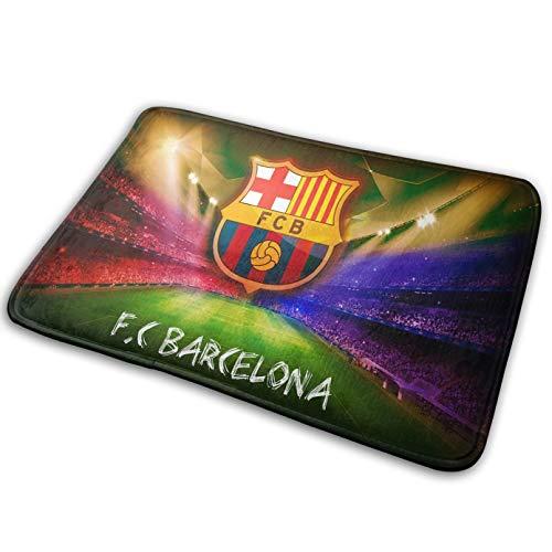 N/A Felpudo Alfombrilla con Logotipo de patrón de Barcelona Alfombrilla para Puerta más Barata Felpudo Floral para Cocina Alfombra Antideslizante para Acento alfombras de baño Alfombrilla de Cocina