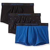3-Pack Emporio Armani Men's Cotton Trunk