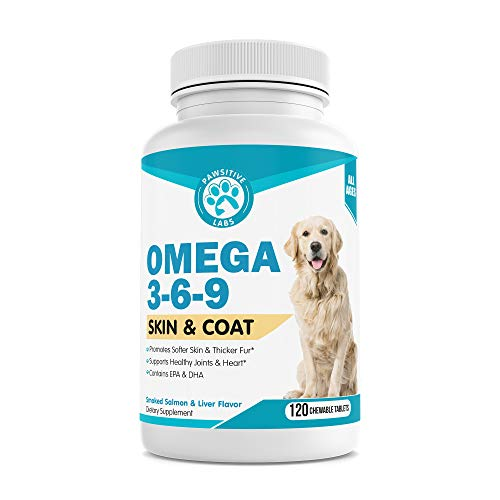 Pawsitive Labs Best Omega 3 6 9 Fish Oil for Dogs – Helps with Itchy Skin, Coat, Joints, Heart and Brain