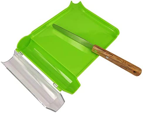 Right Hand Pill Counting Tray with Spatula Light Green Wood Handle product image