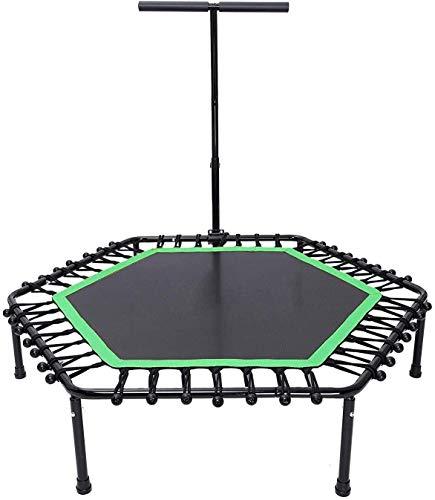 Kleine trampoline Opvouwbare Fitness Trampoline Bungee Trampoline for kinderen volwassenen, Max Load 440 pond Rebounder Trampoline Oefening Fitness Trampoline for Indoor/tuin/Workout Cardio kinder