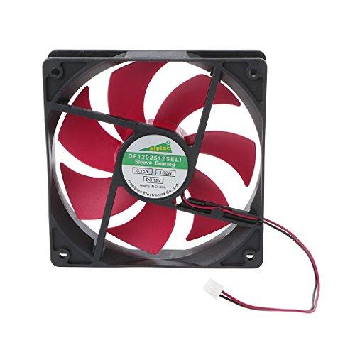 BIlinli Mini 120x120x25mm DC 12V 0.16A Ventilador de enfriamiento de Ventilador de 2 Pines de 7 Palas 12025