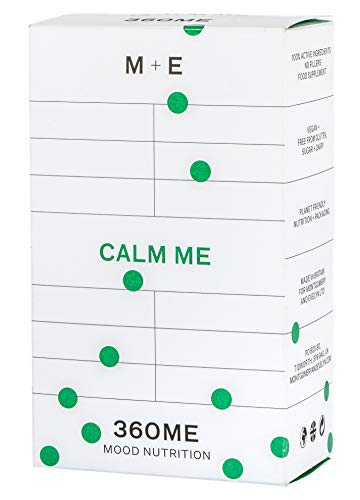 Montgomery+Evelyn Calm Me - 60 Natural High Strength Anxiety Relief Capsules with Magnesium, Probiotics, Complex B Vitamins & Amino Acids Supplement for Relaxation & Sleep - 360ME (18+)