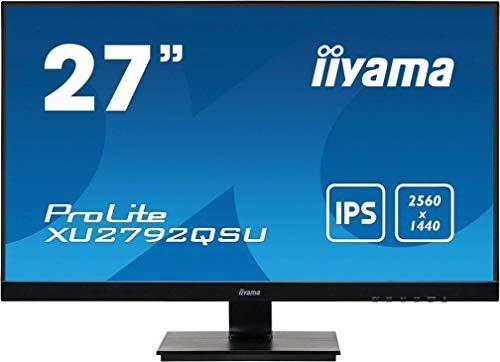 "iiyama Prolite XU2792QSU-B1 68,5cm (27\"") IPS LED-Monitor WQHD (DVI, HDMI, DisplayPort, USB3.0) Ultra-Slim-Line, FreeSync, schwarz"