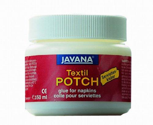 Kreul 90981 - Javana Textil Potch, transparentes Fluid auf Wasserbasis, für Serviettentechnik auf Textilien wie Kissenhüllen, Tischdecken, Rucksäcke oder Baumwolltaschen, 150 ml