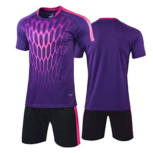 Adult Football Uniforms-Match Training Team Uniforms Short Sleeve Football Sports Clothes (Color : A-3, Size : 4XL)