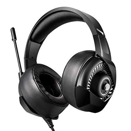 EAHKGmh Gaming Headset Headphones for PS4, Deep Bass Stereo Sound, Noise Cancelling Over Ear Headphones with Mic, for PC Laptop Tablett