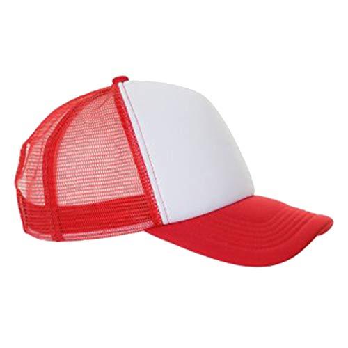 SOLS Unisex Bubble Kontrast Kappe (Einheitsgröße) (Weiß/Rot)