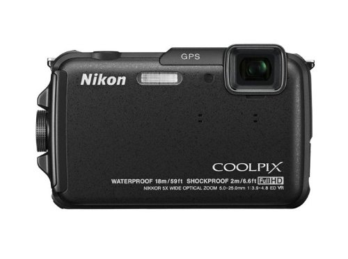 Nikon Coolpix AW110 Outdoor-Digitalkamera (16 Megapixel, 5-fach opt. Zoom, 7,6 cm (3 Zoll) OLED-Display, wasserdicht bis 18 m, stoßfest bis 2 m, kälteresistent bis -10 Grad, Wi-Fi, GPS, elektronischer Kompass, Weltkarte, Geotagging) schwarz