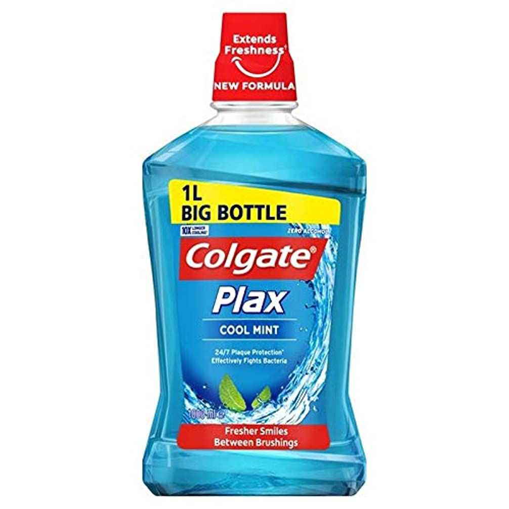 継続中倒産晩ごはん[Colgate ] コルゲートPlaxクールミントマウスウォッシュ1リットル - Colgate Plax Cool Mint Mouthwash 1L [並行輸入品]
