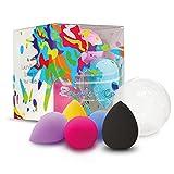Rainbow Cos 5 PCS Micro Mini Makeup Blender Beauty Sponge set, Foundation Blending Sponge,Flawless for Liquid, Creams, and Powders,Multi Color Makeup Sponges Latex Free.