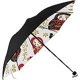Hommes Parapluie Russe Nidification matriochka poupée Dessous Impression Hommes Voyage Parapluie Parapluie UV Soleil Pas Cher Compact Parapluie