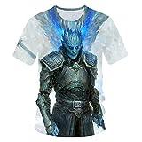 Camiseta de Juego de Tronos, para verano, informal, cuello redondo, diseño animado, impresión 3D, para hombres y mujeres, universal (4,XXL)