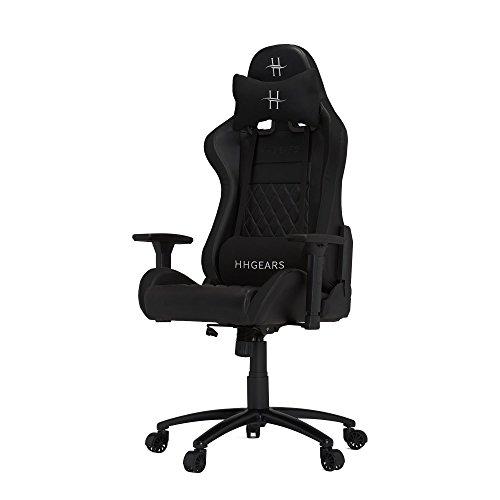 HHGears XL 500 Series PC Gaming Racing Chair Black with Headrest/Lumbar Pillows chair gaming HHGears