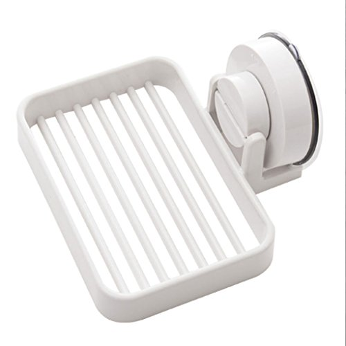 Gmorosa Plastic Soap Dish Bathroom Decor Leaf Shape Hollow Soap Holder with Draining Tray Drainage Storage Holder Container