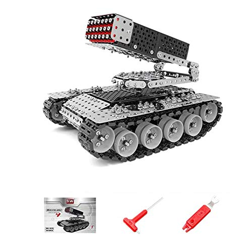 Fujinfeng 3D Metal Model Kits for Adults, 945 Pieces Tank Building Model 3D Kit 3D Metal Jigsaw Puzzle for Adults