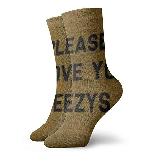 Bag hat Bitte entfernen Sie Ihre Yeezys Socken Frauen & Männer Socken Fußball Socke Sport Tube Strümpfe Länge 11,8 Zoll