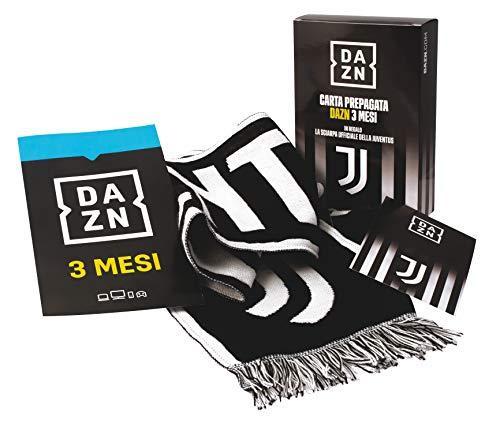 DAZN SPECIAL EDITION. Carta Prepagata DAZN 3 Mesi con in regalo la sciarpa ufficiale della Juventus.