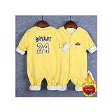 GHQYP Camisetas Niños con NO.24 Kobe Bryant,Regalos Originales para los Recién Nacidos,Traje Niño para Bebés de 3 a 15 Meses,Yellow9,66CM(3-6Months)