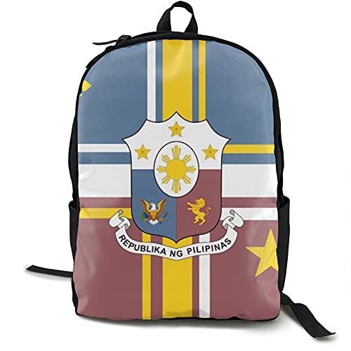 YvetteECissie Bandera de los Philip_Pines - Mochila de viaje para ordenador portátil al aire libre, mochila escolar para adultos o niños