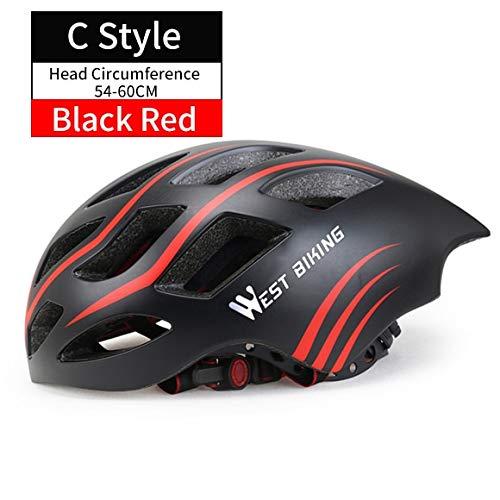 IAMZHL FahrradhelmMTB All-Terrain-FahrradhelmOff-Road Casco Ciclismo Bicicleta Mountainbike-Fahrradhelm-StylBlack Red-b16