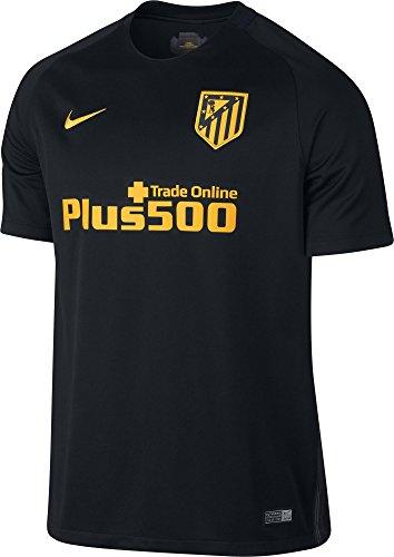 NIKE 808304-011 Camiseta Atlético de Madrid, Hombre, Negro/Amarillo, XL