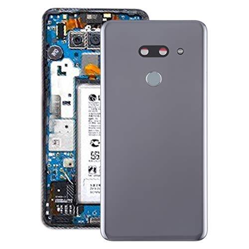 Mobiele telefoon onderdeel werkt zeer goed batterij-achterdeksel met camera en vingerafdruk voor LG G8 THINQ lens, zilver.