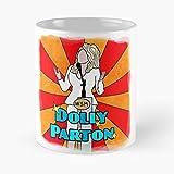 Dolly Parton - La migliore tazza da caffè in ceramica di marmo bianco da 11 onz!