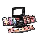 39 Colores Brillo Sombreado de Ojos, Sombra de Ojos, Brillo de Labios, Rubor, reparación de Maquillaje multifunción Sombrero de Ojos Paleta Combo Conjunto