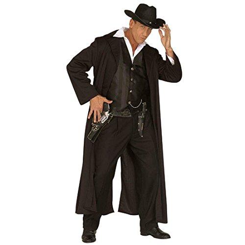 Amakando Disfraz de gnster del oeste, disfraz 52, hroe del oeste, disfraz de gnster para hombre