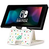 Tscope Switch Stand for Nintendo, Animal Crossing Switch Holder, Adjustable Switch Lite Compact Portable Foldable Stand for Nintendo Switch Accessories (White)