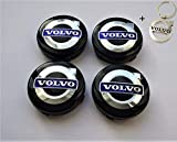 4 x Tapacubos Volvo 64mm Tapas centrales,1 Llavero gratisg en Llantas de aleación,Rueda Homenaje con Logo de Volvo, xc40 60 90 V S C 30