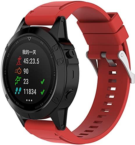 Chainfo Repuesto de Correa de Reloj de Silicona Compatible con Garmin Approach S60 / Approach S62, Caucho Fácil de Abrochar para Relojes y Smartwatch (Pattern 8)