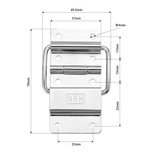 Scharniere 1Pc Kabinett Scharniere Möbelbeschläge Air Flight Case Türen Werkzeugkästen Schließfächer Unterstützung Hinge Box-Tool Hardware-Zubehör Docking (Color : 37x38mm)