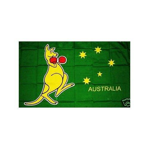 Retail Zone Drapeau australien Motif Kangourou boxeur australien 152,4 x 91,4 cm