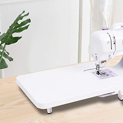 Accesorio de mesa extensible para máquina de coser para coser, borde plegable...