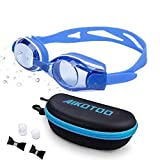 AIKOTOO Swim Goggles,Shortsighted Swimming Goggles Myopic with Prescription Lenses Anti Fog Nose Clip