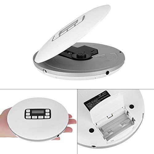 Garsent Lettore CD Portatile con Cuffie, Bluetooth HiFi Lettore Musicale Altoparlante Stereo Anti-Shock,3,5 mm Cuffie Jack,Compatibile con CD,CD-RW, MP3, CD-da e WMA.(EU Plug)