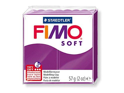 FIMO Arcilla polimérica suave y de efecto 56 g, color violeta suave (61)