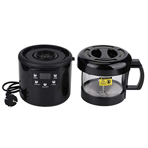 Tostador de café, Tostador de café sin humo para pequeños hogares Circulación de aire caliente, conserva los granos de café