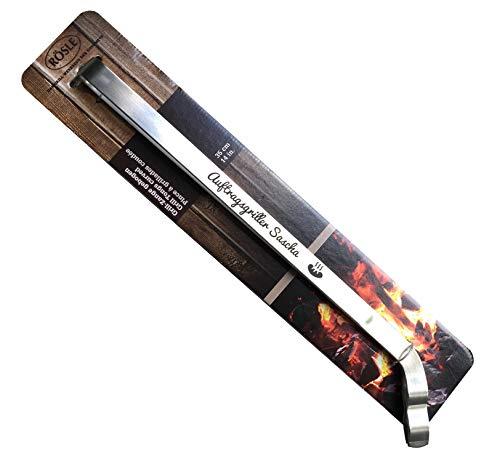 SNEG Hochwertige Grillzange von Rösle aus Edelstahl mit persönlicher Gravur (Text + Motiv auswählbar) | Grillzange mit Gravur
