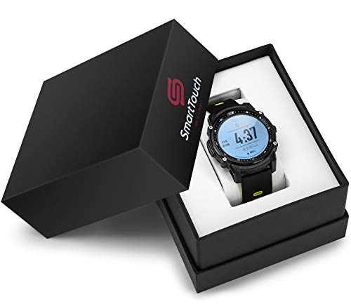 Smart Touch FS08 Swim Smart Watch (Android, iOS) Touchscreen, GPS Bluetooth Fitness Tracker | IP68 Waterproof Pedometer, Altimeter, HR Monitor | Running, Cycling, Hiking, Sports | Men, Women (Green)