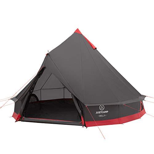Justcamp Bell 6 Tipi Zelt für Gruppen, Familien oder Camping bis zu 6 Personen