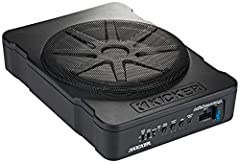 Now includes a 10-inch sub model, along with the 8-inch 180 Watt amplifier drives the HS10; 150 Watt amp the HS8 Ultra-compact at just more than three inches high Minimal parts and quick-connect Molex plug and harness Remote bass control included