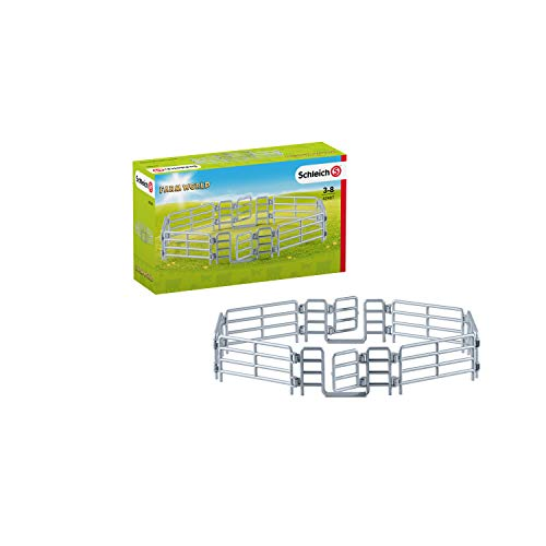 SCHLEICH Farm World Corral Fence with Gate for Kids Ages 3-8