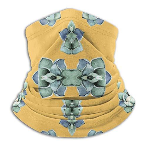 XCVD Comfort 2 'Happy Day Cactus Denim Wash Calentador de cuello de microfibra multifuncional para el cuello, protectores faciales deportivos,